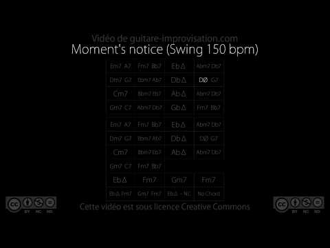 Moment's Notice  : Backing Track (swing 150 Bpm)