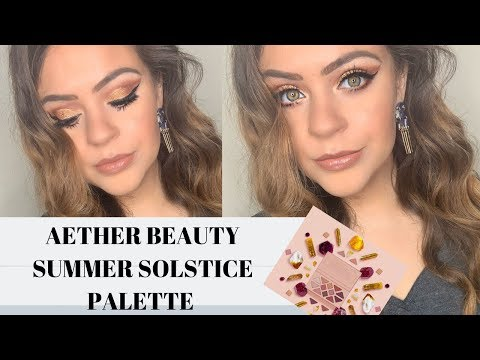 AETHER BEAUTY SUMMER SOLSTICE PALETTE!   DEMO, REVIEW + SWATCHES   CLEAN BEAUTY