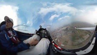グライダー360度cockpit view  (日本大学 LS-8) 【妻沼 全日本学生グライダー競技選手権大会Day1】