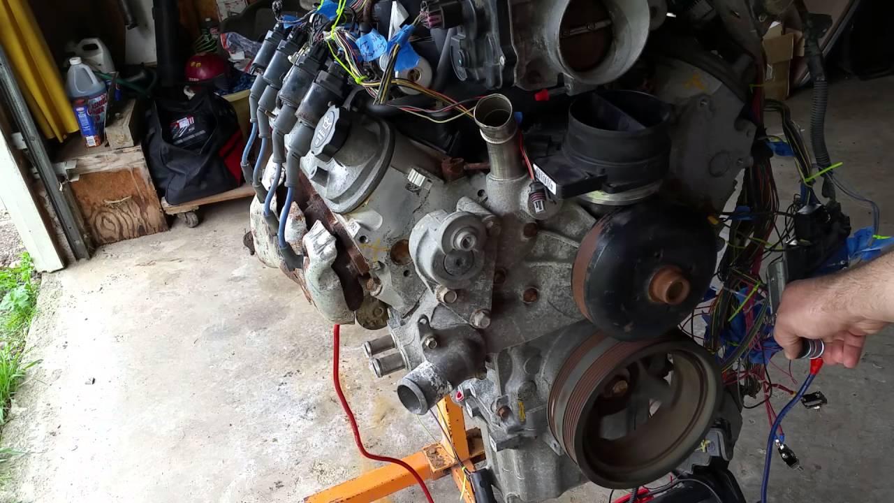 ls starter motor wired