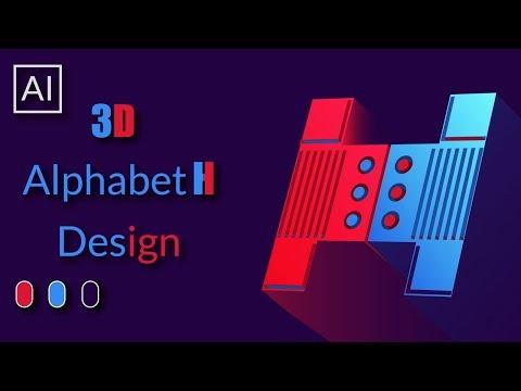 How To Make 3D Logo Design in Adobe illustrator cc 2019 - Tutorial thumbnail