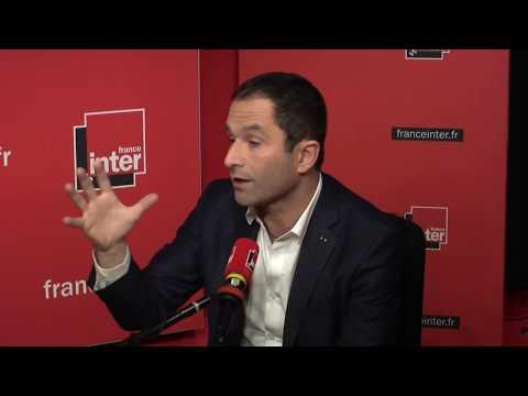 Benoît Hamon au micro de Nicolas Demorand