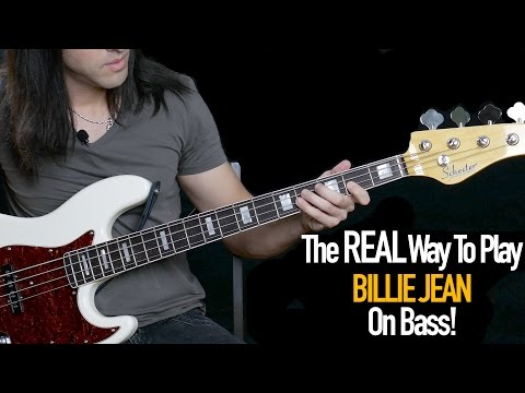 The REAL Way To Play Billie Jean on Bass The Bass Wizard