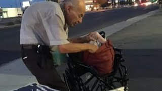 Drivers Passed This Old Man On The Street Every Night  Then A Woman Stopped To Ask Him Who He Is