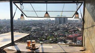 [해방촌] 하늘에서 바라 본 서울.. 분위기 좋은 카페…