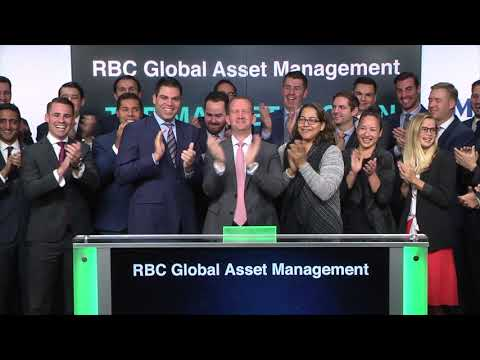 rbc-global-asset-management-opens-toronto-stock-exchange,-october-20,-2017