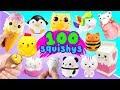 100 SQUISHYS MEGA HAUL | EXTREME SQUISHY SQUEEZE DARES!
