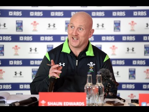 Find out what Shaun Edwards thinks of Mathieu Bastareaud | 2015 RBS 6 Nations | WRU TV