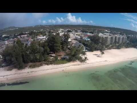 "SAIPAN ISLAND - "" Chalan Kanoa beach "" - - aireal view - - - - - - -  By: ROGER CADUA"