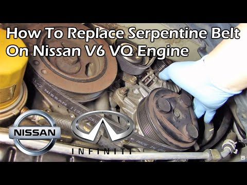How To Replace Serpentine Belt on Nissan V6 VQ Engine - Quest Murano Maxima