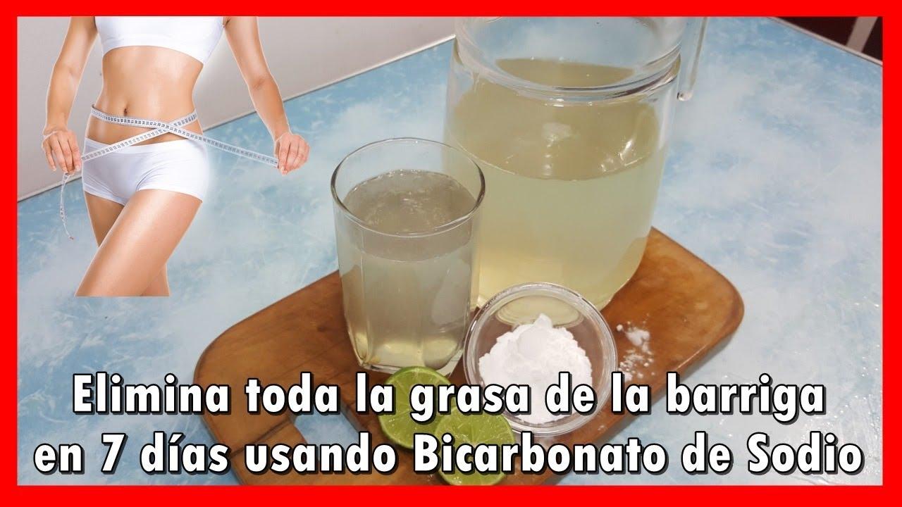 Elimina Toda La Grasa De La Barriga En 7 Días Usando Bicarbonato De Sodio Youtube