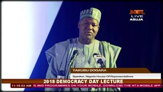 2018 Democracy Day Lecture: 28/5/2018