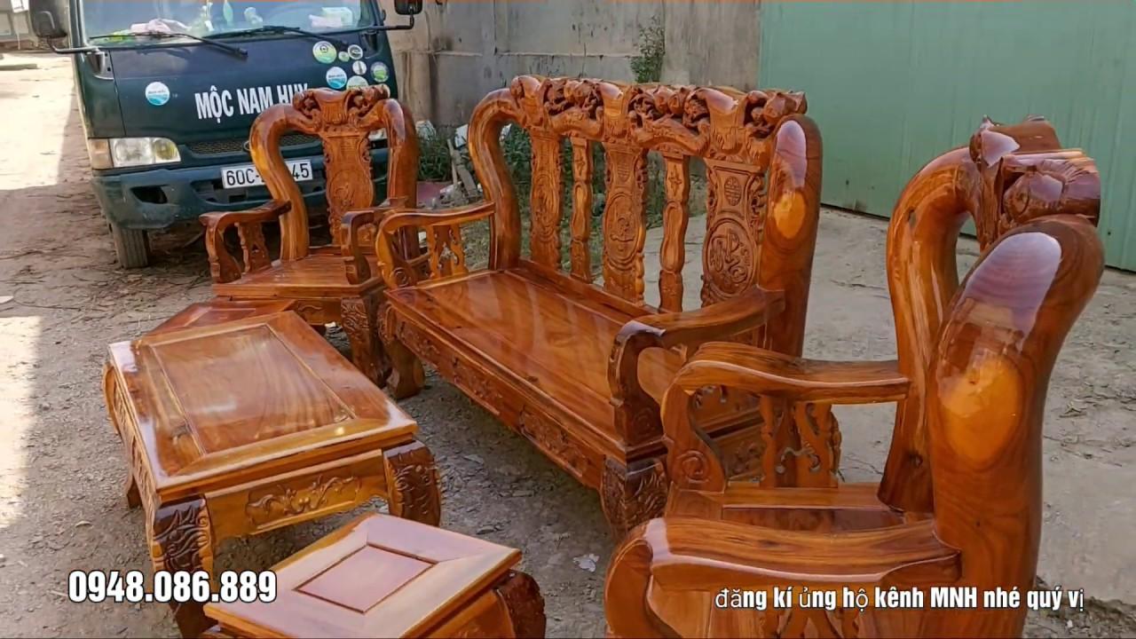 Bộ bàn ghế phòng khách ĐẸP và RẺ nhất Việt Nam / Minh Quốc Đào gỗ Tràm