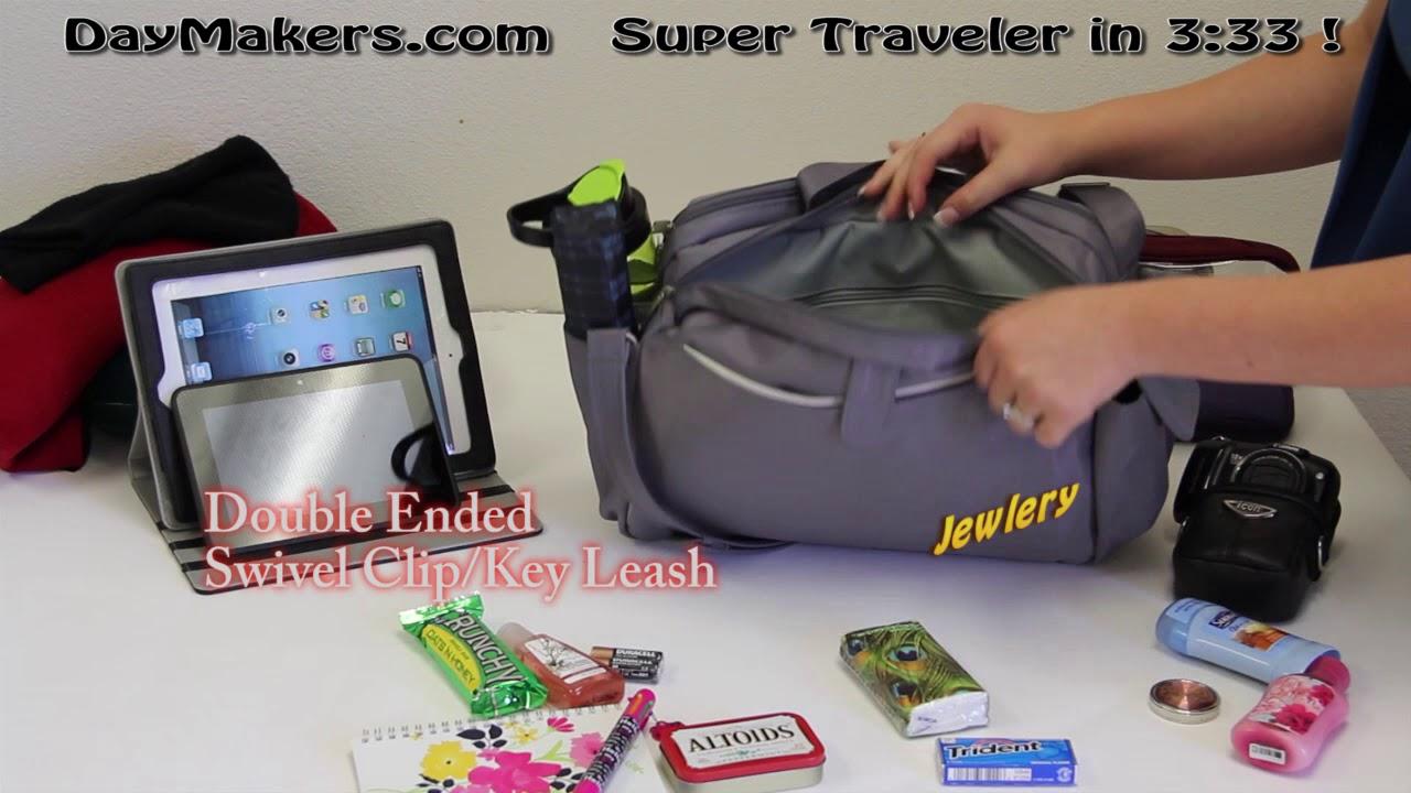 9b427fe2f89b Pewter Nylon Twill Super Traveler Anti-Theft Personal Boarding Bag (Fits  Under seat) #5401 (14
