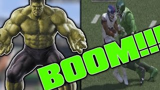 WHAT IF THE HULK WERE A DT IN THE NFL? 99 HIT POWER!!! (Madden 17) | Superhero Series