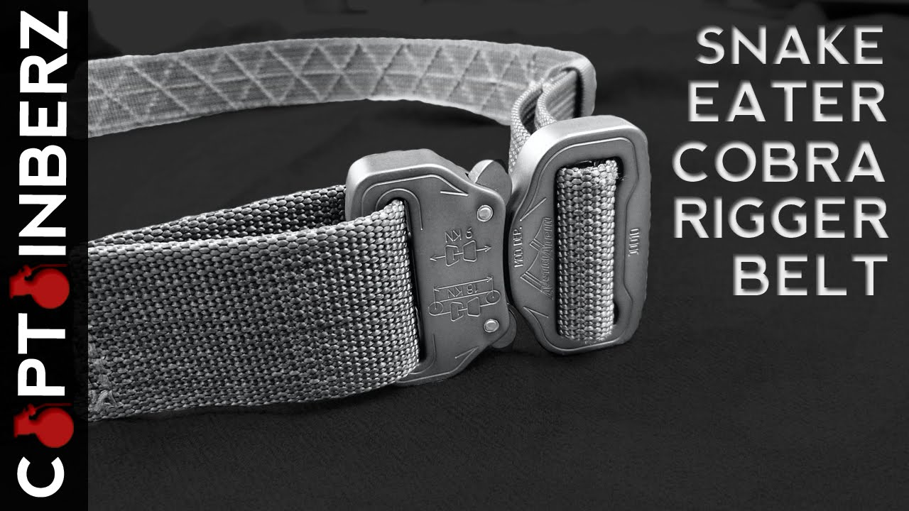 Snake Eater Tactical Cobra Riggers Belt (Calling Shotgun for EDC!)