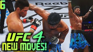 UFC 4 Career Mode Gameplay #6: How To Get New Moves! EARLY Powerful Knockout! EA UFC 4 Career Mode!