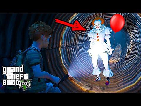 Реальная Жизнь в Гта 5 - Дети нашли Клоуна Пеннивайз из Оно в ГТА 5 моды! видео игры Gta 5 mods