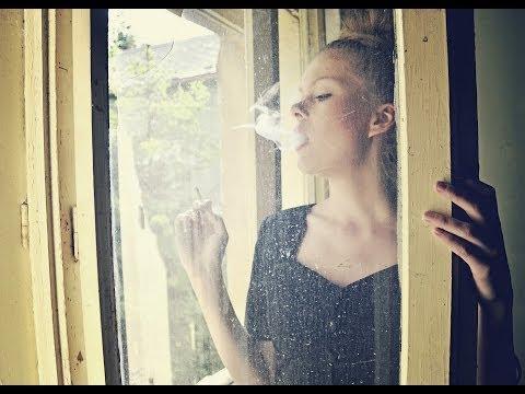Vintage lady of smoke