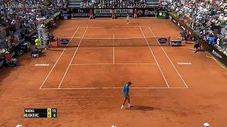 Rafael Nadal Vs Novak Djokovic Rome 2014 Final Highlight (HD)