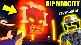 THE END OF MAD CITY... VOLCANO ERUPTING UPDATE (w/ Taymaster) | Roblox Mad City New Update