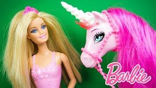 Barbie Princess Doll and Regal Unicorn Toy Dolls Playset