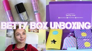 BETTY BOX REVIEW AND UNBOXING (June 2018) AD|Sophia