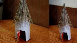 Cardboard Hut in Creative Arts by SrujanaTV
