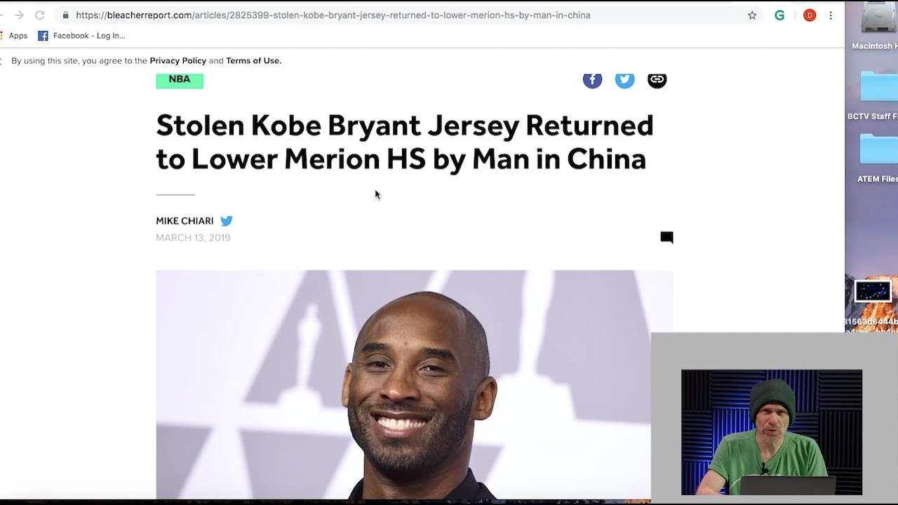Kobe Bryant Stolen Shirt Brought BACK