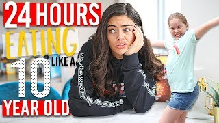 SWITCHING DIETS WITH MY 10 YEAR OLD SISTER FOR 24 HOURS!