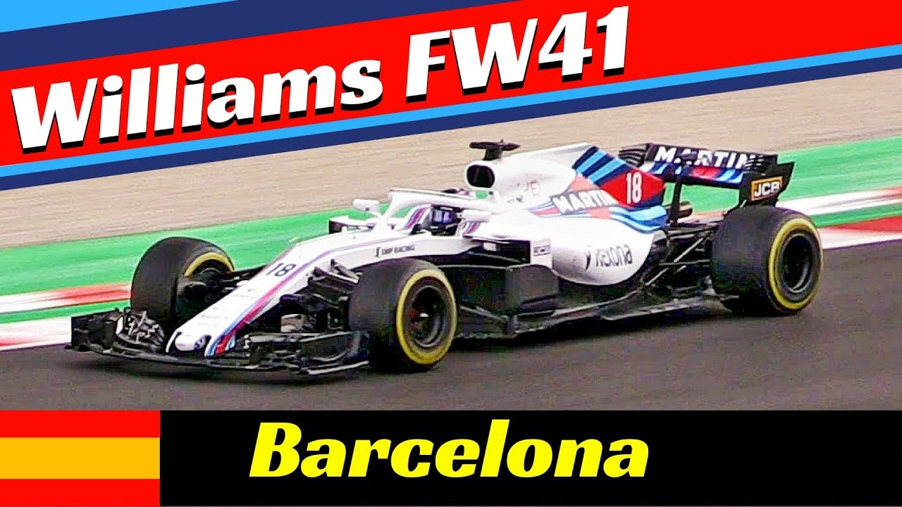 williams fw41 formula one f1 2018 official pre season. Black Bedroom Furniture Sets. Home Design Ideas