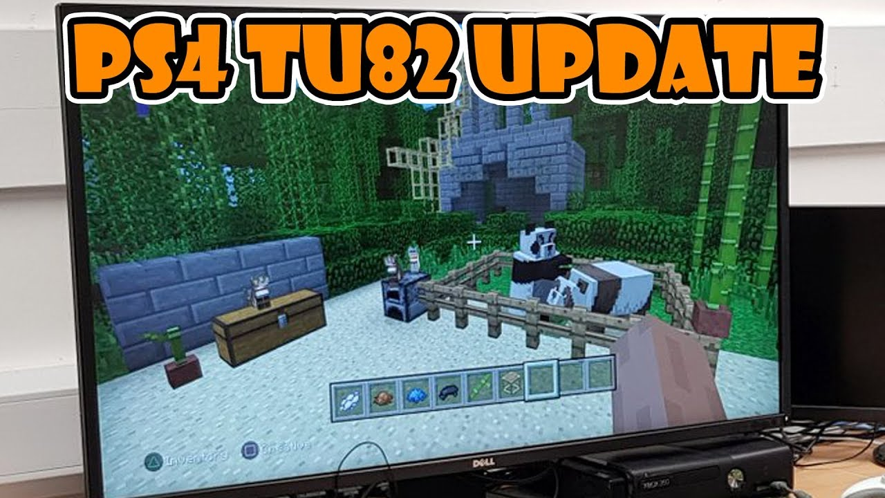 Minecraft Ps4 Panda Bamboo And Cats Shown Tu82 Youtube