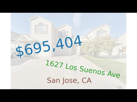 $695,404 San Jose home for sale on 2020-12-24 (1627 Los Suenos Ave, CA, 95116)