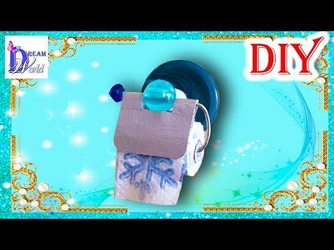 Видеозапись Как сделать Туалетную бумагу для кукол. DIY. How to make a Toilet paper for dolls.