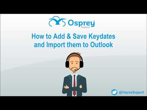 Thursday Tip: How to Add & Save Keydates and Import Them to Outlook
