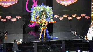 Whulandary Herman presented Reog Ponorogo on the Miss Universe 2013
