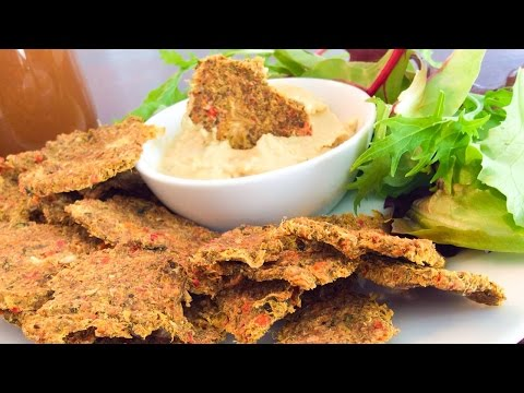 Vegetable Crackers Recipe - Vegan, Gluten-Free, Raw