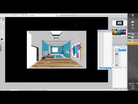 Wacom Cintiq 24HD My Interior Sketch