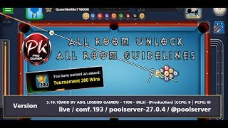 8 Ball Pool Update 3.10.1 Version All Room Unlock Mod Apk - All Rooms Guidelines Mod | PK Pro Gamer