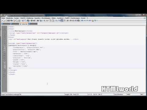 HTML Tutorial: Musikplayer/Hintergrundmusik In Eine Webseite Einbinden (JW Player)   Deutsch