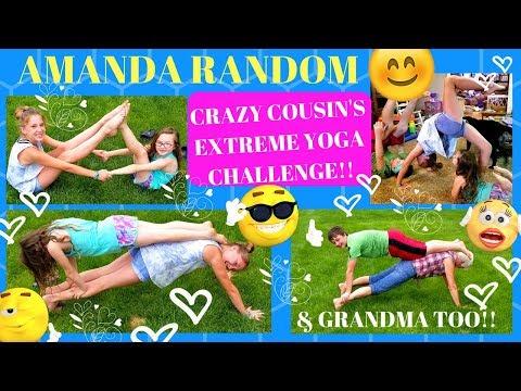 CRAZY COUSIN'S EXTREME YOGA CHALLENGE & GRANDMA TOO !!