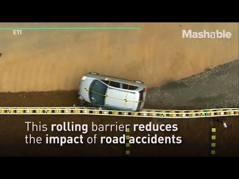 innovative road barrier is a potentially life saving invention