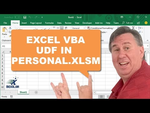 How to create a personal workbook in excel