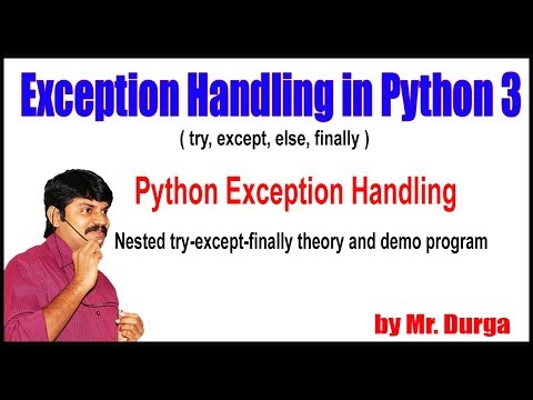 Python Tutorials || Python Exception Handling || Nested try-except-finally theory and demo program thumbnail