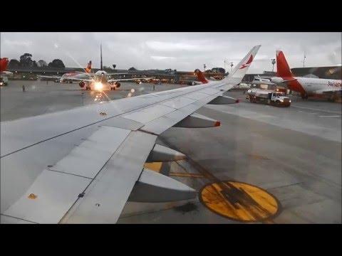 Avianca A320 Sharklets N740AV despegando de Bogotá en una mañana lluviosa