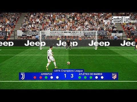 PES 2019 | Juventus vs Atletico Madrid | UEFA Champions League (UCL) | Penalty Shootout | Gameplay