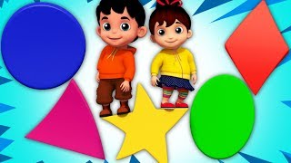 Shapes Songs For Toddlers | Junior Squad Cartoons For Kids by Kids Tv