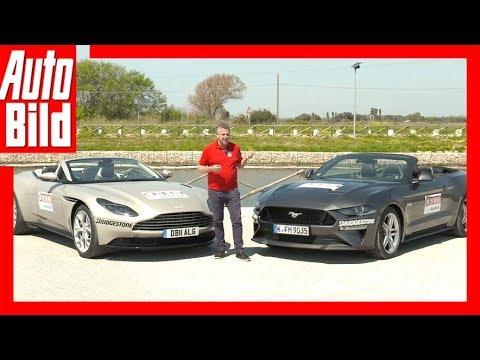 Aston Martin Db11 Vs Ford Mustang 2018 Vergleich Review Erklärung Youtube