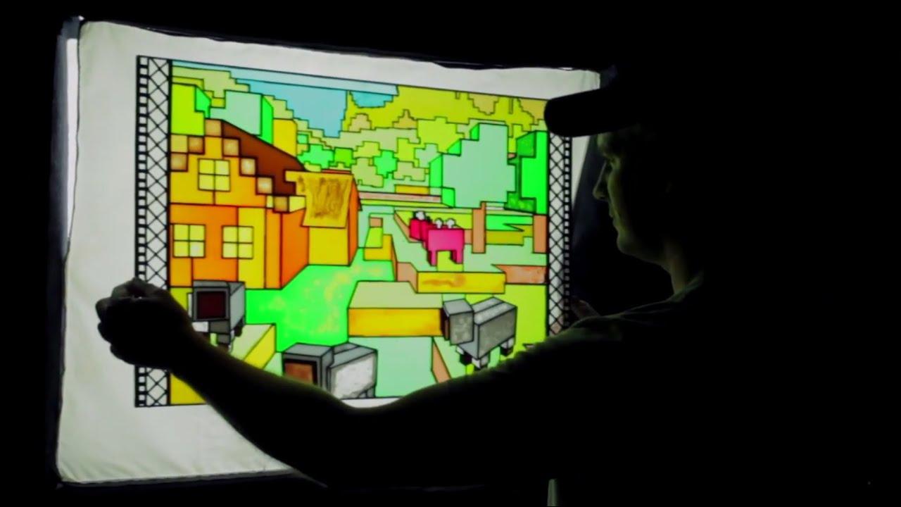 Greg Aronowitz Makes Minecraft Stained Glass Window Youtube