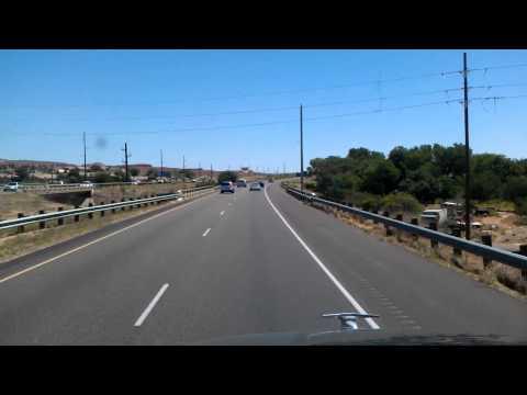 Driving through St George, Utah on Interstate 15 North